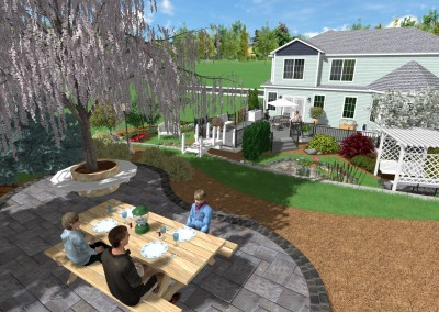 Picnic Area in Realtime Landscaping Pro