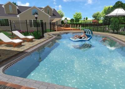 Sample 3D Swimming Pool Design