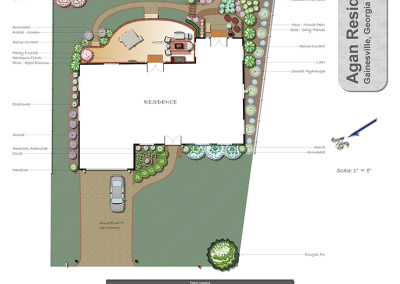 Sample Landscape Plan with Garden and Deck