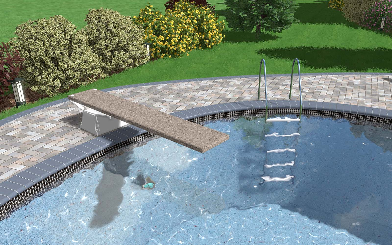 SR Smith Diving Board and Pool Ladder
