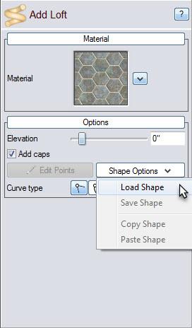 Load premade shapes using shape options