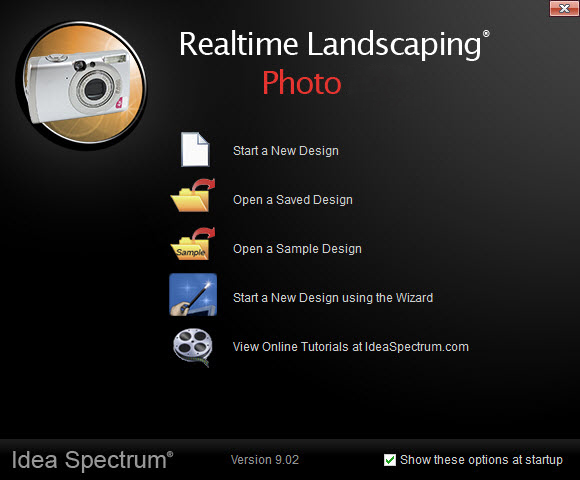 Welcome menu for Realtime Landscaping Photo
